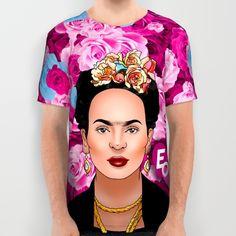 Frida+Kahlo+All+Over+Print+Shirt+by+Forevermilo+-+$34.00