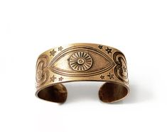 All seeing eye cuff  bracelet