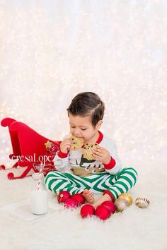 """""""Because one cookie is never enough""""   Christmas Jammies mini session   Teresa Lopez Photography   541.953.0101 Beautiful Christmas Session   indoor cookies and jammie holiday session by Teresa Lopez Photography."""