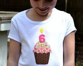 Custom Age or Initial Birthday T-shirt, Light Pink Toddler and Kids Personalized T-shirt. via Etsy.