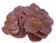 Chocolate-Covered PotatoChips: I used melted Reece's. They would have been better with regular chocolate.