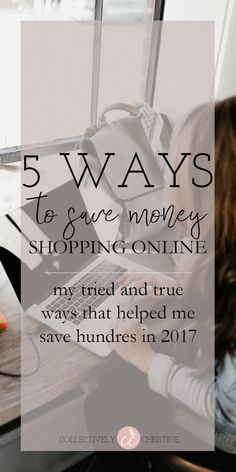 5 Ways to Save Money Online Shopping. I save hundreds last year with these plugins and strategies! #savemoney #money #moneytips