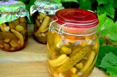 Ogórki na ostro do słoików - Jak zrobić - [Smakowite Dania] Pickles, Cucumber, Food, Youtube, Canning, Essen, Meals, Pickle, Yemek