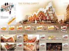 """""""The flying carpet"""" A Modular sustainable market square (Morocco) // """"Le tapis volant"""" Un marché modulable, pensé de manière durable (Maroc)"""