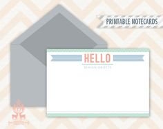 Free Printable: Airy and Light Notecards