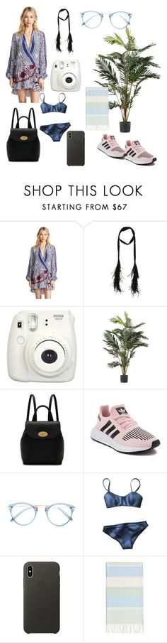 """Untitled #8"" by itchy-crib ❤ liked on Polyvore featuring Rococo Sand, Yves Saint Laurent, Fujifilm, Mulberry, adidas, Oliver Peoples, Lisa Marie Fernandez, Apple and Linum Home Textiles"