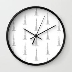Burj Khalifa Reloj de Pared | https://society6.com/yaela  #SurfacePatternDesign #Pattern #Estampado #Skyscraper #BurjKhalifa #Rascacielos #Reloj #Clock #Society6