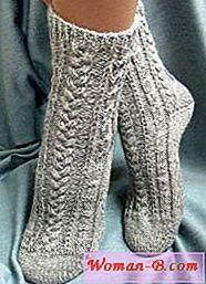 Pletené ponožky styl enterlak  8cae563a12