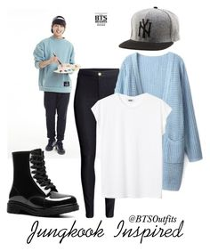 """""""Jungkook Inspired"""" by btsoutfits ❤ liked on Polyvore featuring Dizzy, Reason and H&M"""