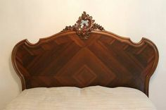 French walnut bedroom set circa 1890 . This is my favorite style by a large margin; these, however, simply don't exist in a California king.