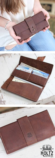 Surprise your bridesmaids with The Kelsey Fine Leather Pocketbook Wallet.  This unique wallet is a gift your girls will not expect to receive.  The Kelsey features 4 card slots, one large money pocket, and a checkbook compartment.