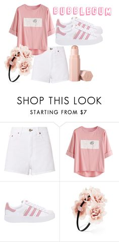 """""""Bubblegum"""" by flashinglights-397 on Polyvore featuring rag & bone/JEAN, adidas Originals, Forever 21 and Puma"""