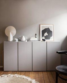 Paint the Ikea IVAR cabinet. - Ikea IVAR cabinet lacquer with lacquer from www. Ikea Ivar Cabinet, Armoire Ikea, Nordic Design, Scandinavian Design, Scandinavian Interiors, Tv Ikea, Hygge Home, Living Room Decor, Home And Family