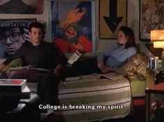 law school breaks the spirit. 10 Ways Gilmore Girls Prepared Me for College