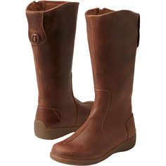 Women get style and support with Andina Leather Tall Boots. Crafted of tumbled leather uppers with a Scotchgard finish to age gracefully.