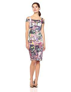 Nicole Miller New York Women's Printed Cold Shoulder Sheath Midi Dress, Burgundy/Multi, 14 Winter Dresses, Evening Dresses, Summer Dresses, Burgundy Midi Dress, Summer Fashion Trends, Dresses For Work, Formal Dresses, Nicole Miller, Dress Skirt