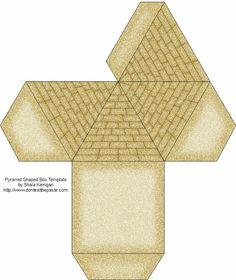 Plantilla para construir una pirámide egipcia