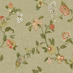 York Wallcoverings Global Chic Graceful Garden Trail x Floral and Botanical Wallpaper Color: Light Tan, Yellow, Orange, Peach, White Stripped Wallpaper, Brick Wallpaper Roll, Trellis Wallpaper, Chic Wallpaper, Botanical Wallpaper, Embossed Wallpaper, Wallpaper Panels, Geometric Wallpaper, Wallpaper Samples