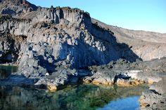 Charcas naturales. Playa de Echentive. Fuencaliente. La Palma