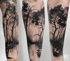 Skull Sleeve Tattoos, Leg Sleeve Tattoo, Tattoo Sleeve Designs, Bone Tattoos, Sexy Tattoos, Body Art Tattoos, Lego Tattoo, Alien Tattoo, Tree Tattoo Men