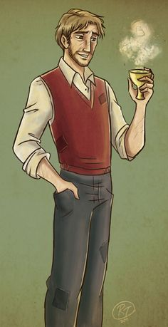 Remus Lupin by Roby - THIS. This is how I pictured Remus Lupin.