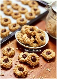 Peanut Choco Thumbprint Cookies kesukaanku+step by step ^__^