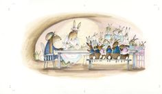 http://www.babette-cole.co.uk/babette-cole-how-i-made-james-rabbit-and-the-giggleberries-in-pictures/