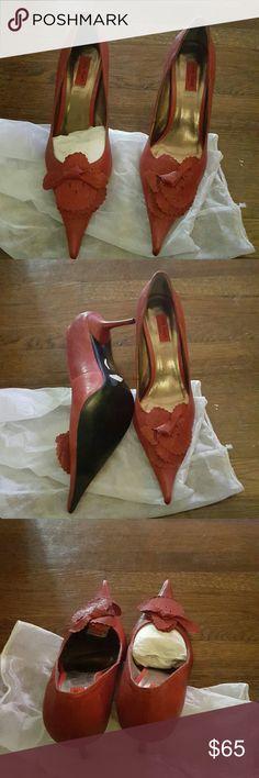 Selling this MIZ MOON TOMATO  RED FUN HEELS in my Poshmark closet! My username is: fludrey. #shopmycloset #poshmark #fashion #shopping #style #forsale #MIZ MOON  #Shoes