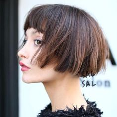 Cropped Brown Bob With Highlights