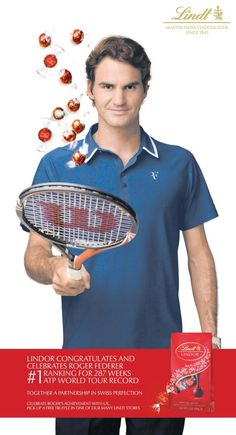 Roger Federer AND chocolate.