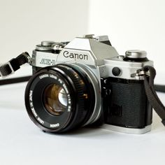 35Mm Camera | 1980s Canon AE1 35mm SLR camera with 50mm f18 lens by newamsterdam