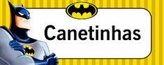 Montando minha festa: Etiquetas escolares - Batman Name Tags, Disney Characters, Fictional Characters, Costa, Lucca, Merlin, Donuts, Alphabet, Display