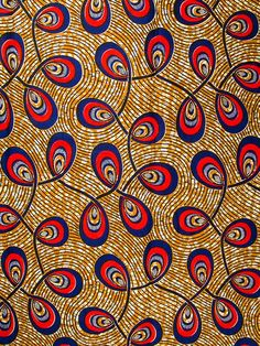 Pagne africain Real Wax Hollandais 100% Coton - 6 yards a8826