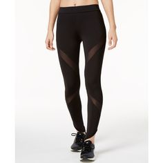 Puma Evo Mesh Leggings ($50) ❤ liked on Polyvore featuring activewear, activewear pants, black, puma sportswear and puma activewear