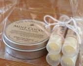 Gift Bag: Lip Balm Sampler and Body Lotion, Organic Ingredients