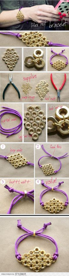 DIY pour réaliser ses propres bijoux DIY Hex Nut Bracelet diy crafts craft ideas easy crafts diy ideas crafty There are many banknotes, bills or coins, including: Current currencies: Obsolete currencies: Hardware Jewelry, Wire Jewelry, Jewelry Crafts, Beaded Jewelry, Jewelery, Jewellery Box, Silver Jewelry, Hex Nut Jewelry, Sparkly Jewelry