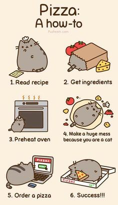 Pusheen  pizza...this is ME! ... find more memes at http://www.gagtrolls.com
