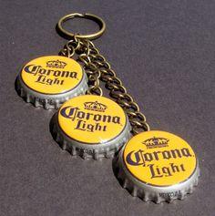 Corona Bottle Cap Keychain  CanCanCorner@etsy.com