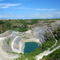Delabole Quarry, worked since ancient times and once the deepest man-made hole in the world. What appears to be Delabole slate has been found within the remains of prehistoric buildings on Bodmin Moor.