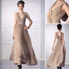 Dresswe.com SUPPLIES Stunning A-Line V-Neck Floor-length Prom/Evening Dresses Party Evening Dresses (2)