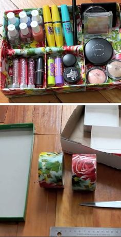 Cardboard & Craft Tape Jewelry Tray | Click Pic for 18 DIY Makeup Storage Ideas for Small Bedrooms | Easy Organization Ideas for the Home