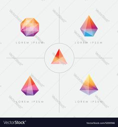 Vector image of Diamond prism logo icon shapes Vector Image, includes logo, drawing, glass, icons & shapes. Illustrator (.ai), EPS, PDF and JPG image formats.
