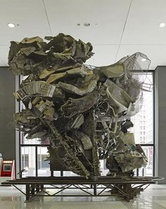 The Town-Ho's Story 1993 (Frank Stella) Metcalf Federal Building, 77 West Jackson Boulevard (southeast corner of Clark St. and Jackson Blvd. Photo Sculpture, Lion Sculpture, Sculptures, Chicago Sculpture, Frank Stella, Chicago Photos, Entry Foyer, Library Of Congress, Architecture