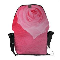The Most Perfect, Prettiest, Pink Rose Courier Bags @Rickshaw Bagworks @Louise-clémence Grenier @Luxury Link