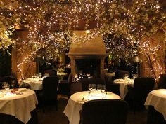 Clos Maggiore in London.  Voted the most romantic restaurant in London.