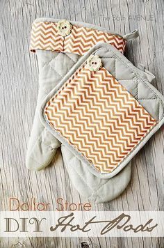 Hello Everyone! I am Desirée visiting from The 36th AVENUE. I am sharing today with you a quick tutorial of how to give an ordinary set of Dollar Store Hot Pads a little Fall makeover. Isn't it fun? Before I share the tutorial let me thank Amy for having me. I love The Idea Room …