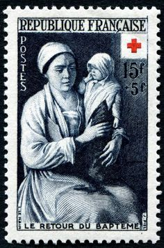 French Red Cross Stamp.