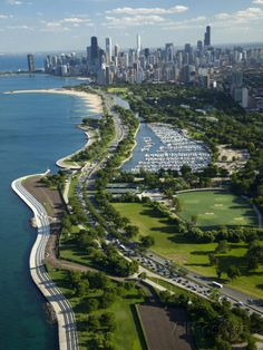 Aerial View of City, Lake Shore Drive, Lake Michigan, Chicago, Illinois. Chicago City, Chicago Skyline, Chicago Illinois, Chicago Lake, Milwaukee City, Cook County Illinois, Chicago Today, Visit Chicago, Chicago Usa