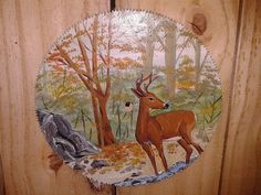10 inch Deer Hand Painted Saw Blade by InspiredbytheSouth on Etsy, $25.00