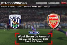 Prediksi Judi Bola West Brom vs Arsenal Liga Inggris 31 Desember 2017